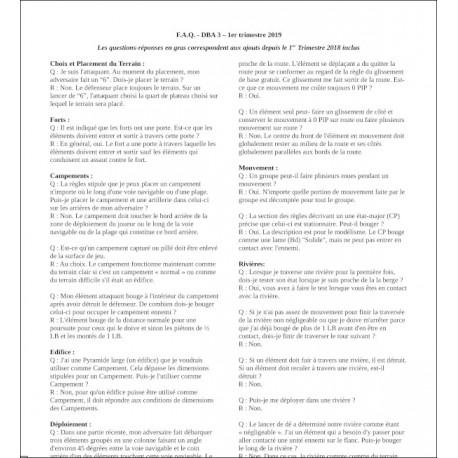 FAQ 1er Trimestre 2019