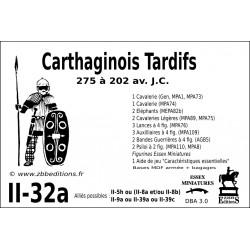 DBA 3.0 - 2/32a Carthaginois Tardifs