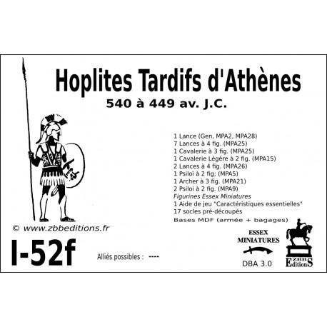 DBA 3.0 - 1/52f Hoplites Tardifs d'Athènes