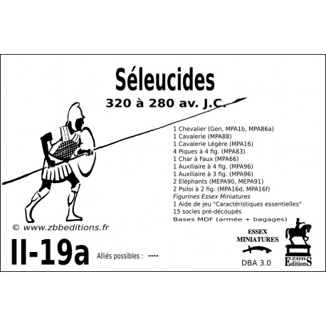 DBA 3.0 - 2/19a Séleucides
