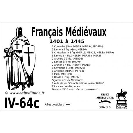 DBA 3.0 - 4/64c Français Médiévaux