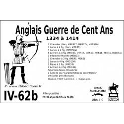DBA 3.0 - 4/62b Anglais Guerre de Cent Ans