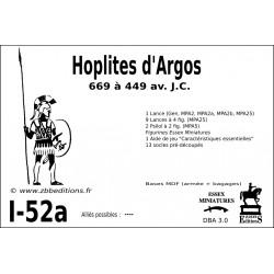 DBA 3.0 - 1/52a Hoplites d'Argos