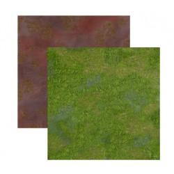Duo de Tapis de Jeu - 60 cm x 60 cm - Broussaille & Plaine