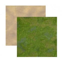 Duo de Tapis de Jeu - 60 cm x 60 cm - Désert & Plaine