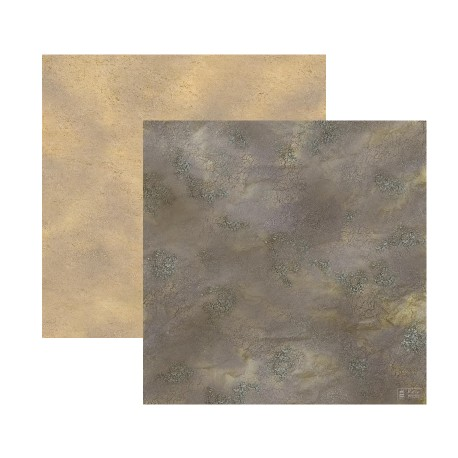 Duo de Tapis de Jeu - 60 cm x 60 cm - Désert & Rocaille