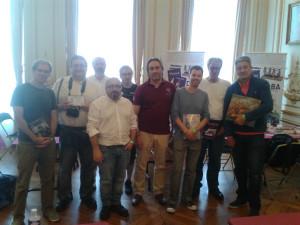 Remise des prix du tournoi de l'OPJH 2017 Au centre, Guillaume Bouilleux, organisateur de l'évènement