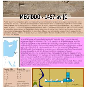 La bataille de Megiddo en -1457